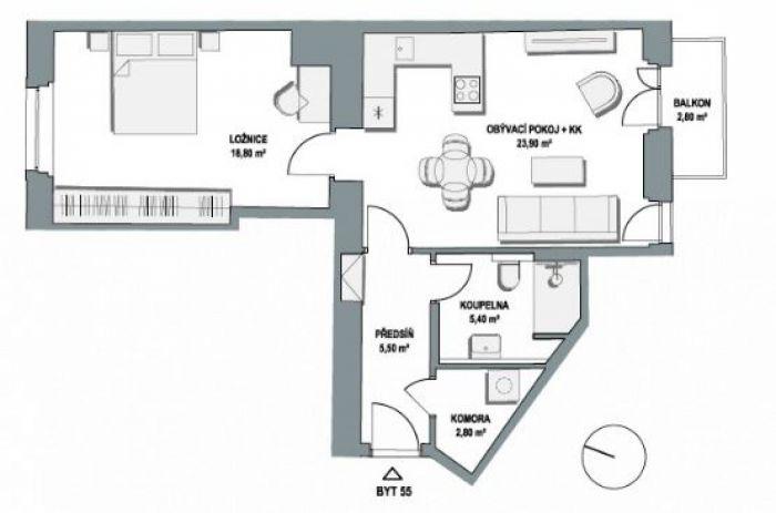 Půdní byt 2+kk