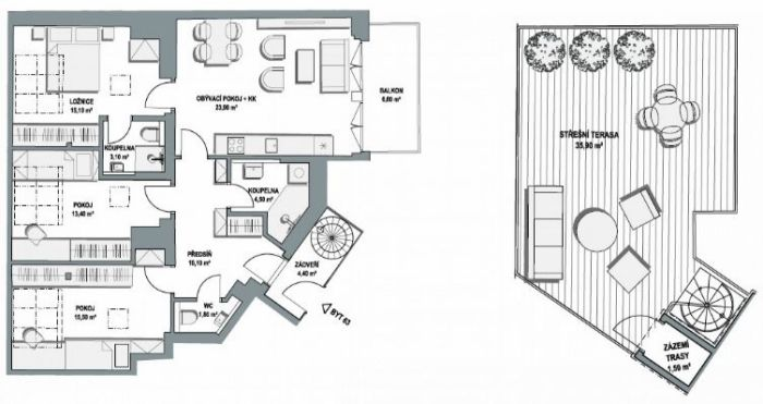 Půdní byt 4+kk