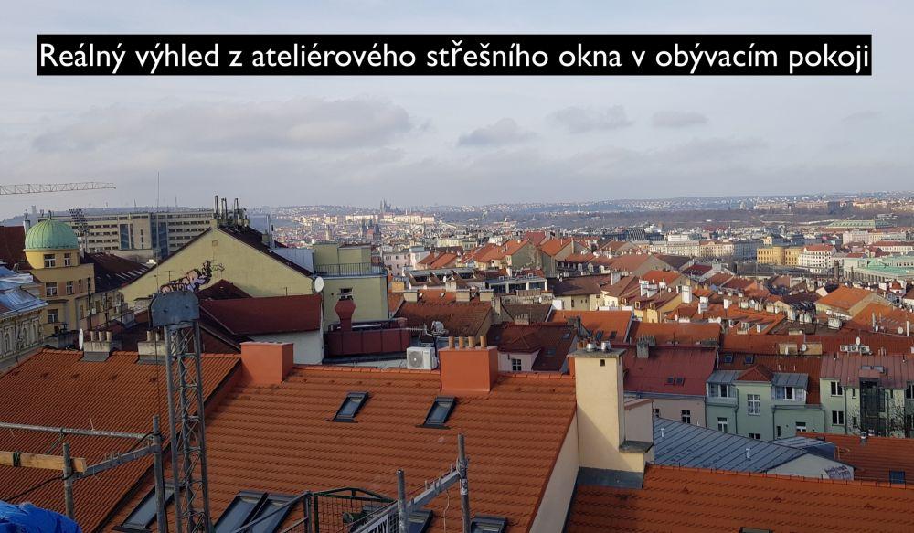 Půdní byt 2+kk, plocha 53 m², Seifertova, Praha 3 - Žižkov