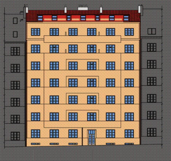Developerský projekt Biskupcova, ulice Biskupcova, Praha 3 - Žižkov | 3