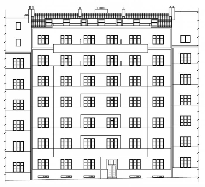 Developerský projekt Biskupcova, ulice Biskupcova, Praha 3 - Žižkov | 1