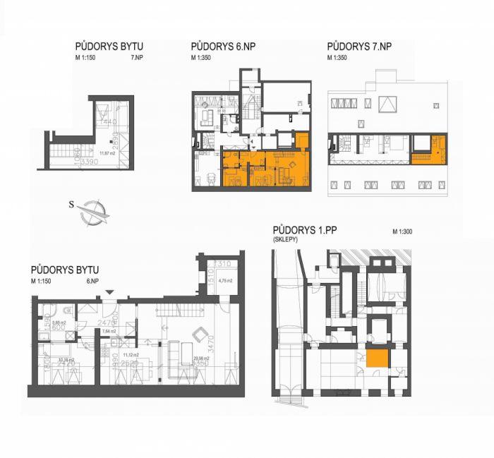 Půdní byt 3+kk, plocha 106 m², ulice Londýnská, Praha 2 - Vinohrady, cena 8 800 000 Kč   7