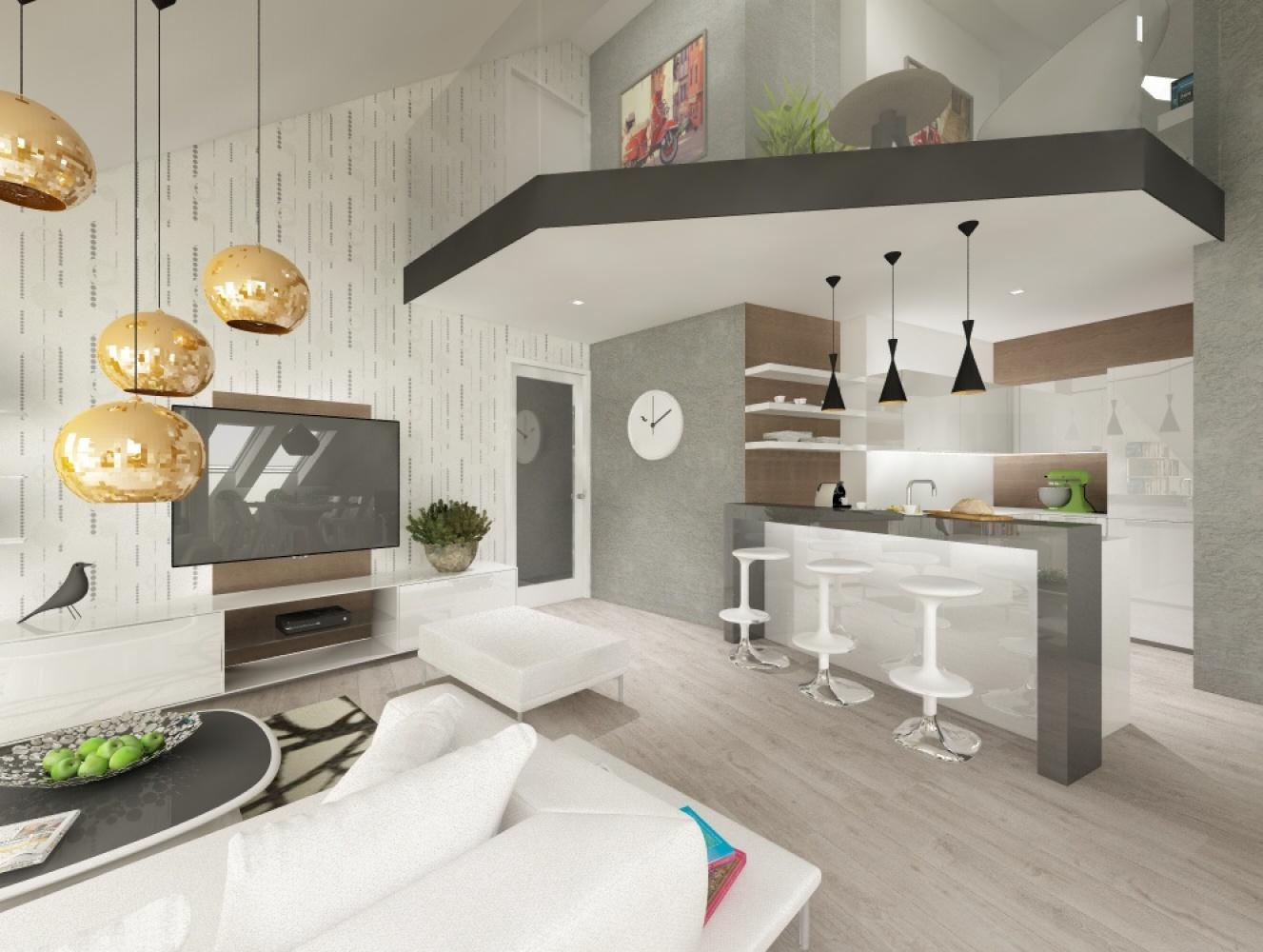 Půdní byt 5+kk, plocha 158 m², ulice Srbská, Praha 6 - Dejvice | 2