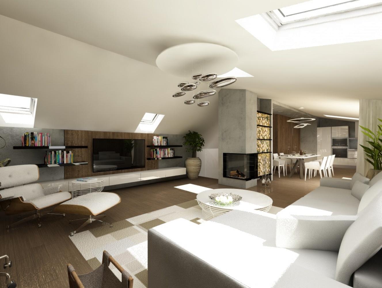 Půdní byt 4+kk, plocha 196 m², ulice Srbská, Praha 6 - Dejvice | 3