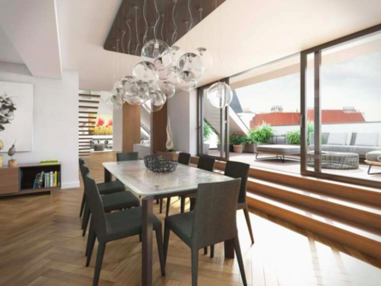 Vizualizace jednoho z bytů - Půdní byt 3+kk, plocha 162 m², ulice Kodaňská, Praha 10 - Vršovice | 1