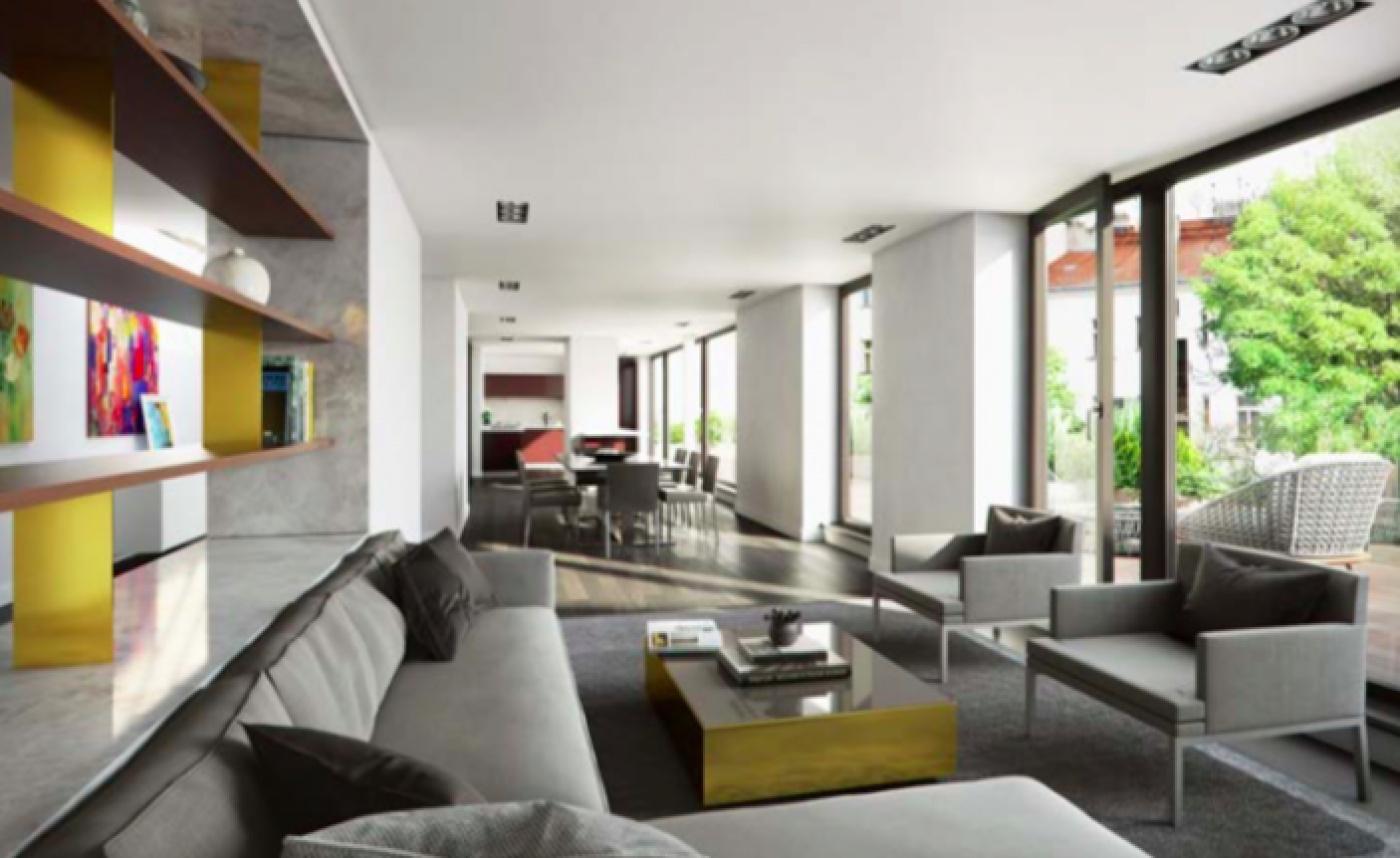 Vizualizace jednoho z bytů - Půdní byt 3+kk, plocha 162 m², ulice Kodaňská, Praha 10 - Vršovice | 2