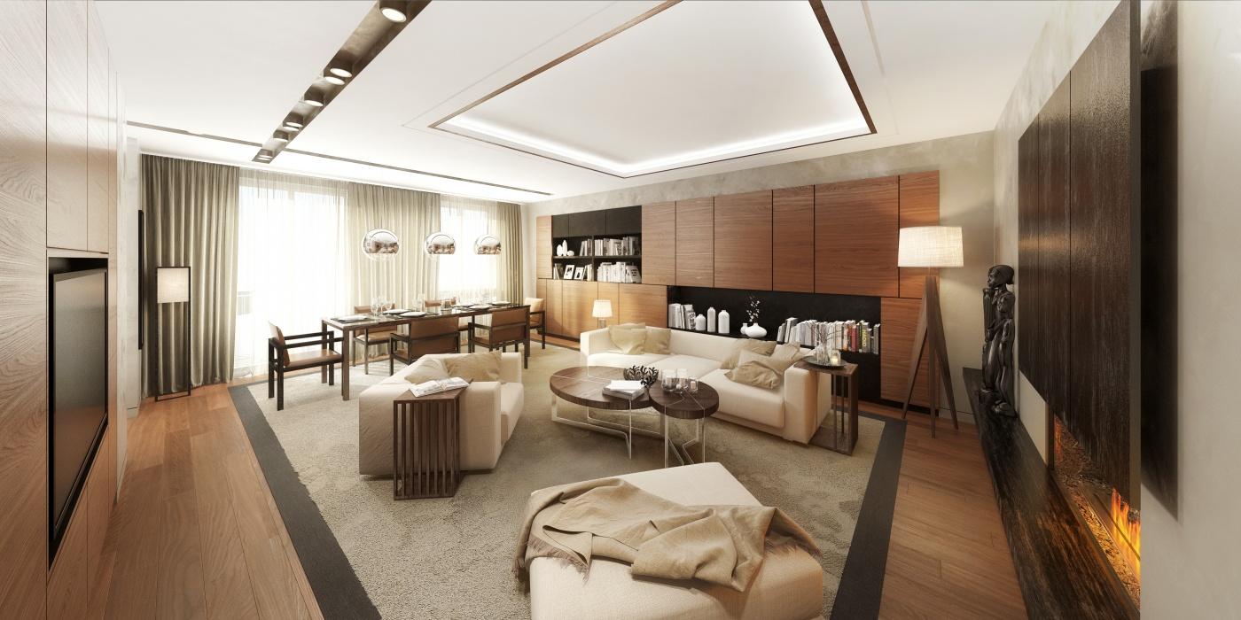 Vizualizace jednoho z bytů - Půdní byt 4+kk, plocha 139 m², ulice Na Zderaze, Praha 2 - Nové Město | 2
