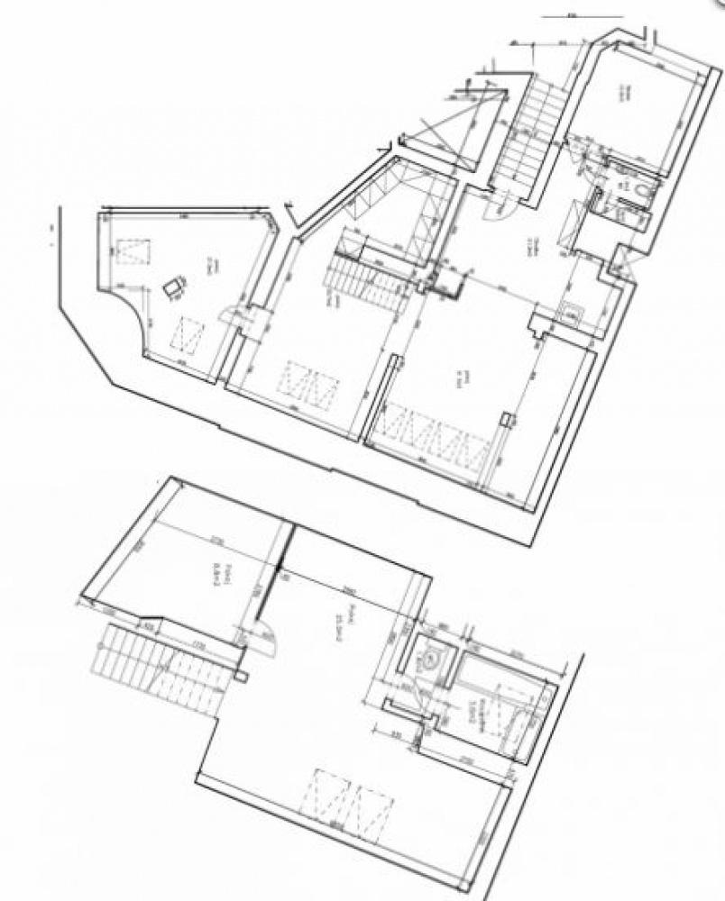 Půdorys - Půdní byt 3+kk, plocha 162 m², ulice Kodaňská, Praha 10 - Vršovice