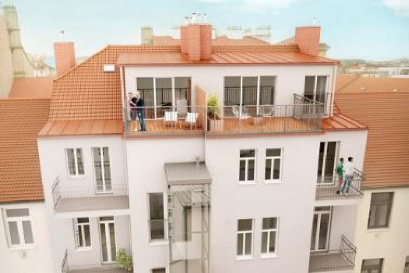Půdní byt 2+kk, plocha 74 m², ulice Korunovační, Praha 7 - Bubeneč, cena 6 989 000 Kč | 2