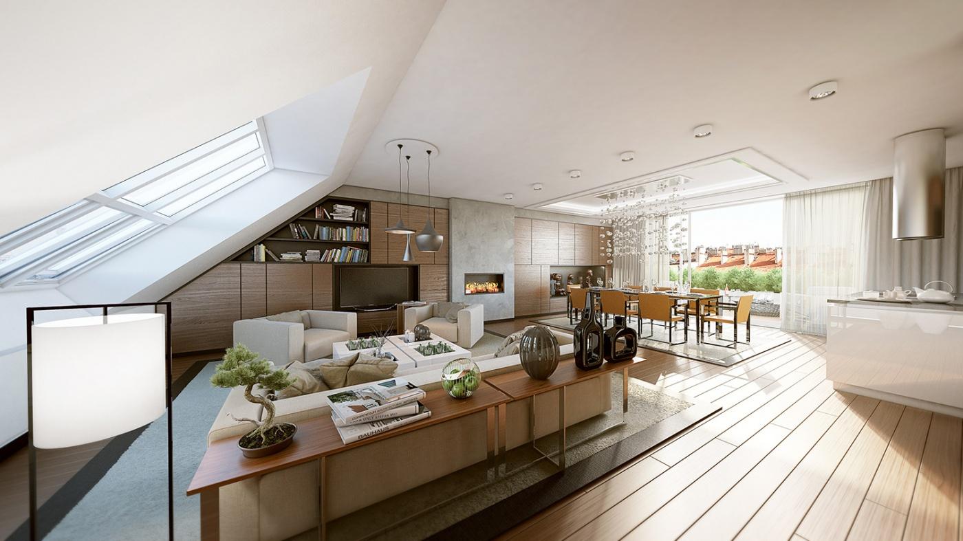 Půdní byt 5+kk, plocha 194 m², ulice Slezská, Praha 2 - Vinohrady | 1