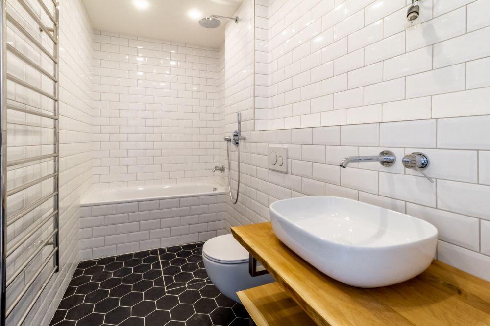 Koupelna půdního bytu - developerský projekt Husitská, ulice Husitská, Praha 3 - Žižkov | 8