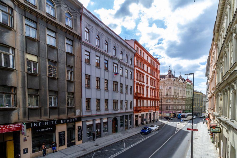Pohled na dům - developerský projekt Husitská, ulice Husitská, Praha 3 - Žižkov | 18
