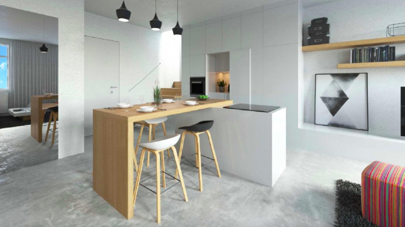 Půdní byt 4+kk, plocha 100 m², ulice Husitská, Praha 3 - Žižkov | 3