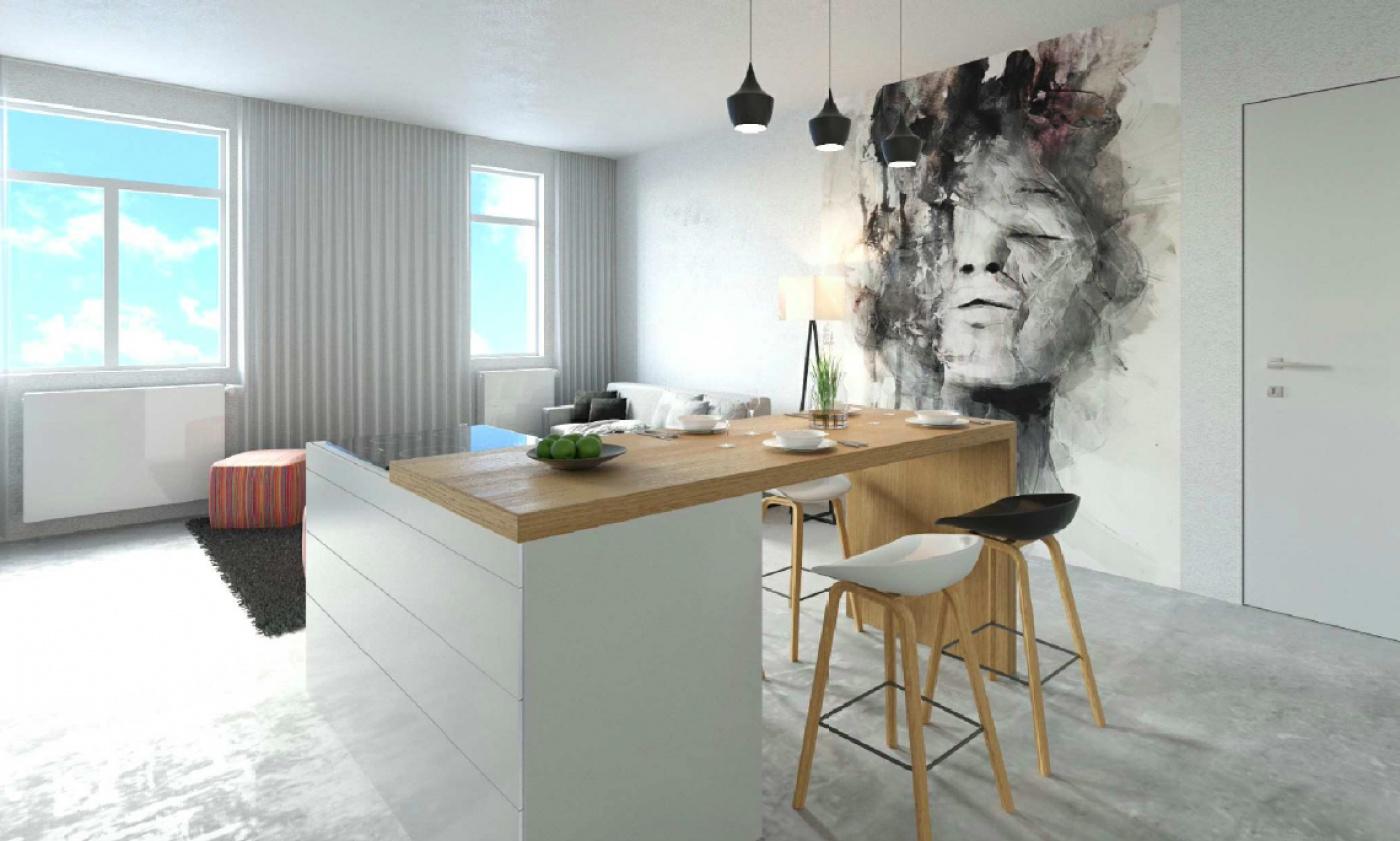 Půdní byt 4+kk, plocha 100 m², ulice Husitská, Praha 3 - Žižkov | 2