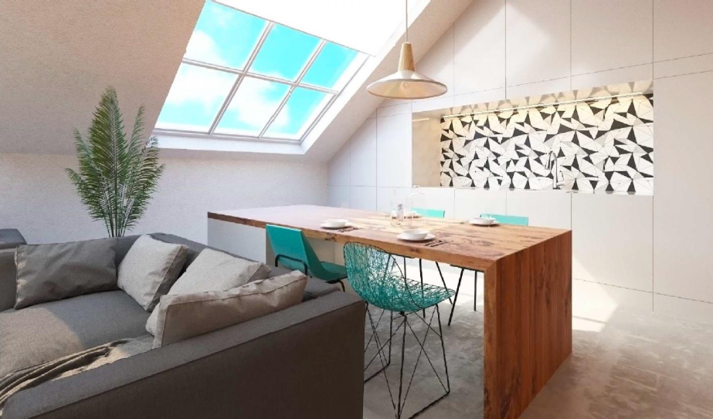 Půdní byt 3+kk, plocha 95 m², ulice Husitská, Praha 3 - Žižkov | 3