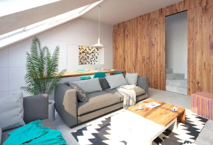 Půdní byt 3+kk, plocha 95 m², ulice Husitská, Praha 3 - Žižkov | 4