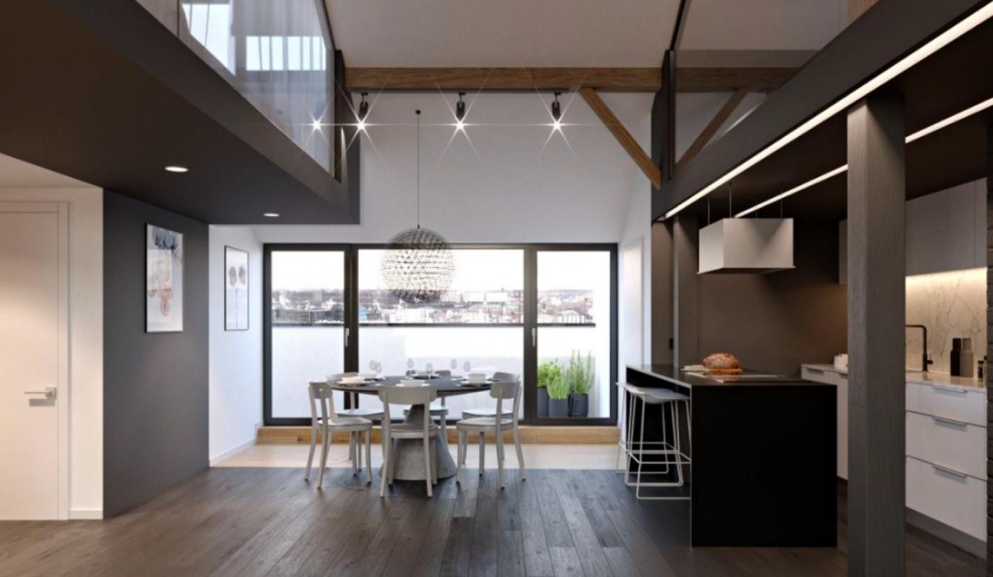 Půdní byt 3+kk, plocha 114 m², ulice Řehořova, Praha 3 - Žižkov   1