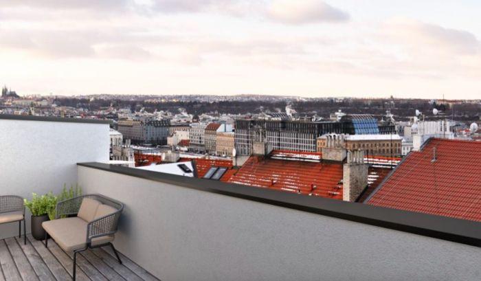 Půdní byt 3+kk, plocha 114 m², ulice Řehořova, Praha 3 - Žižkov | 4