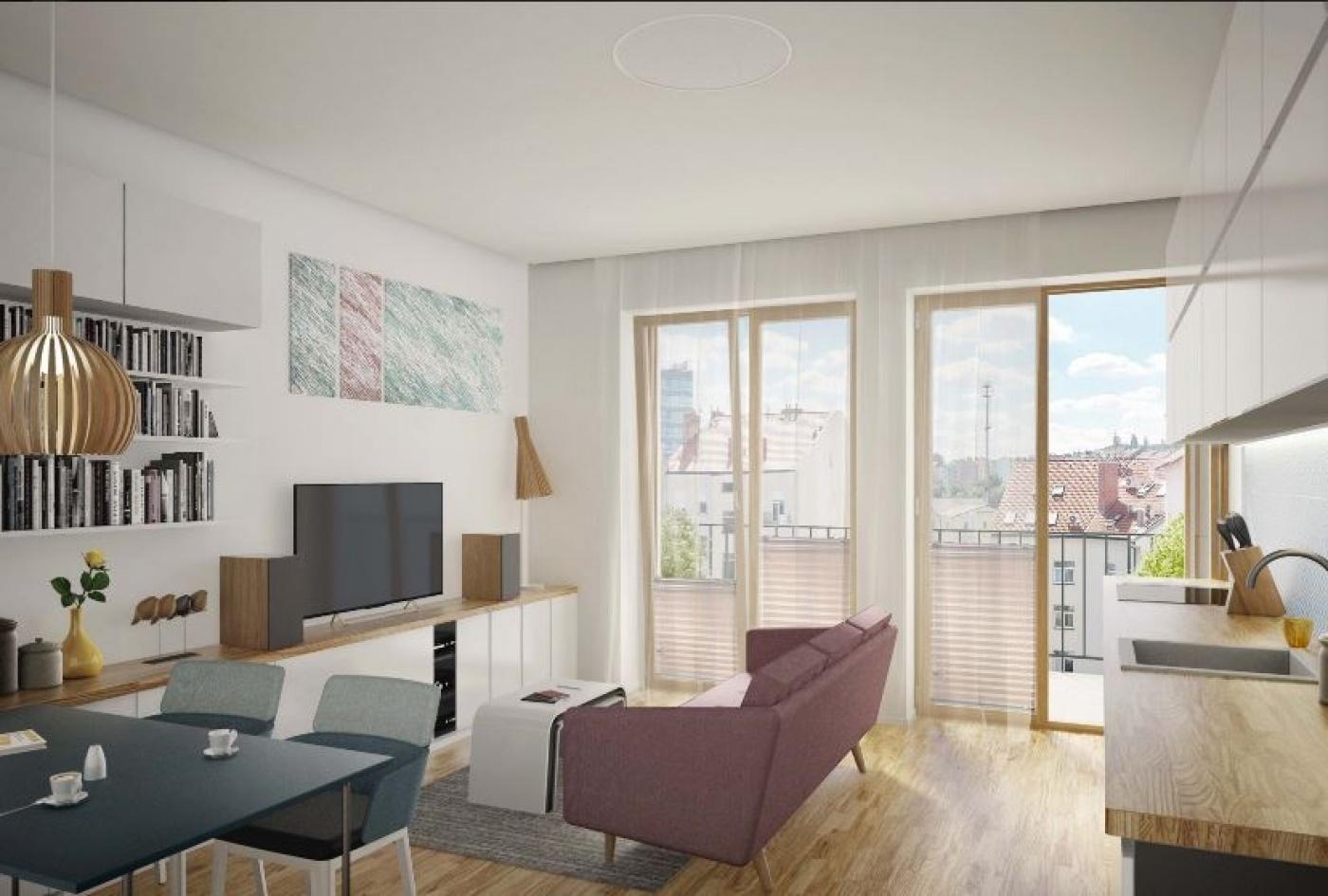 Půdní byt 2+kk, plocha 77 m², ulice Lihovarská, Praha 9 - Libeň, cena 6 117 000 Kč | 4