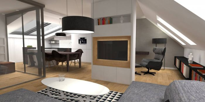 Půdní byt 2+kk, plocha 73 m², ulice Svatoslavova, Praha 4 - Nusle | 1