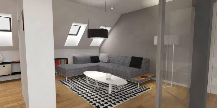 Půdní byt 2+kk, plocha 73 m², ulice Svatoslavova, Praha 4 - Nusle | 2