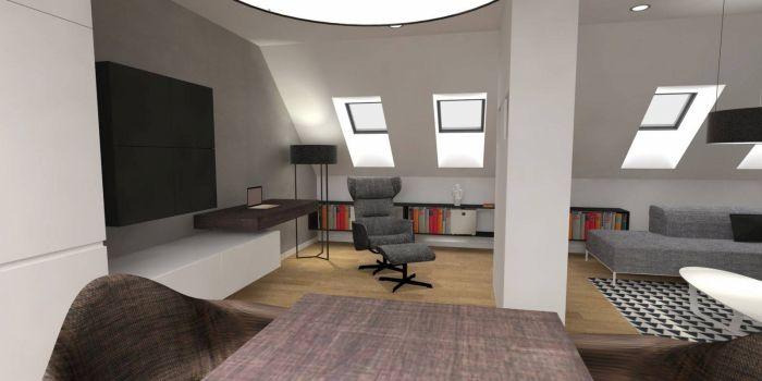 Půdní byt 1+kk, plocha 46 m², ulice Svatoslavova, Praha 4 - Nusle | 1