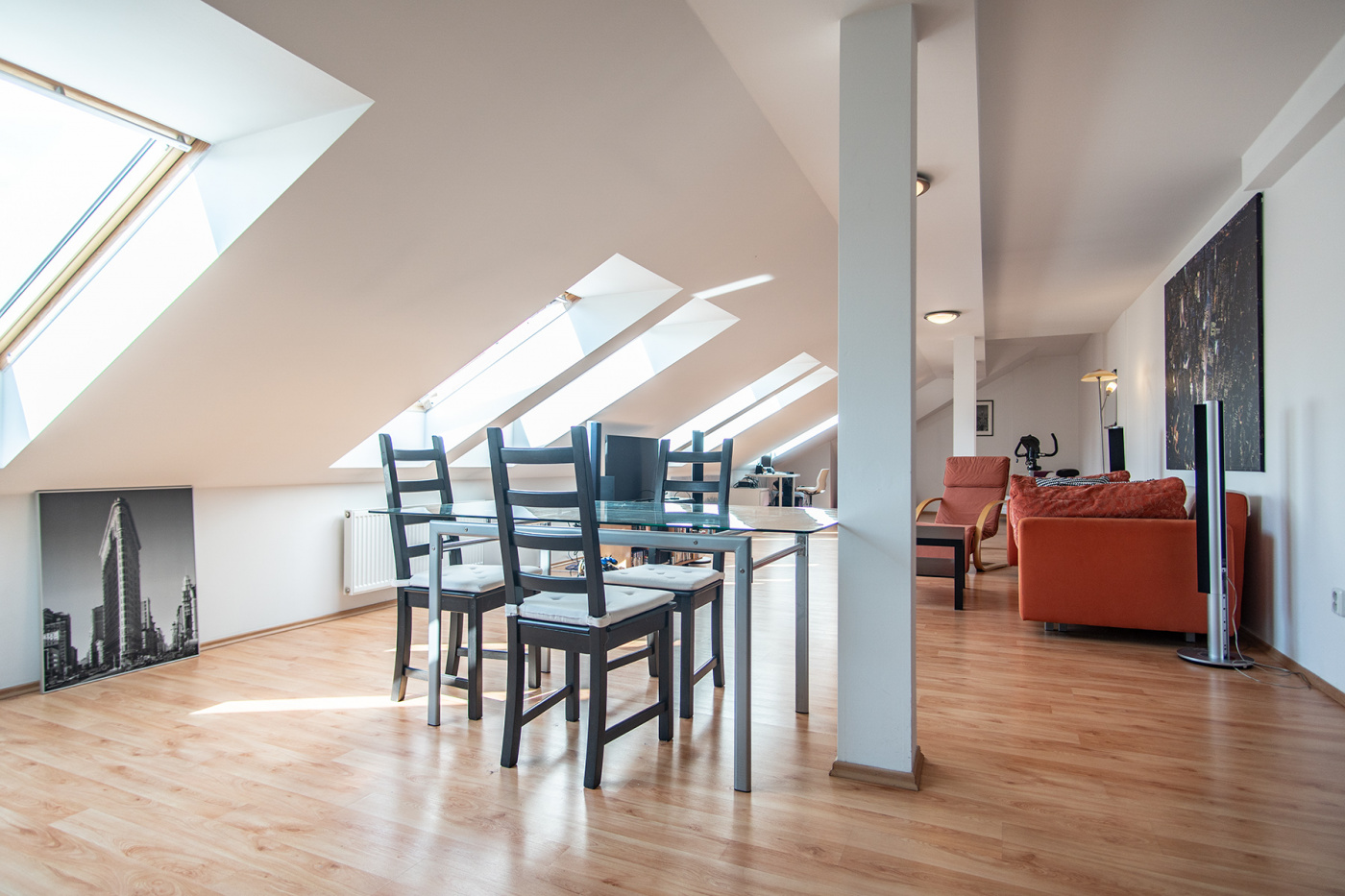 Půdní byt 3+kk, plocha 139 m², ulice Táborská, Praha 4 - Nusle | 2