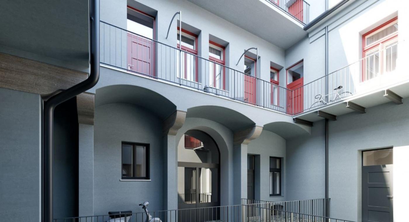 Půdní byt 2+kk, plocha 46 m², ulice Prvního pluku, Praha 8 - Karlín | 1