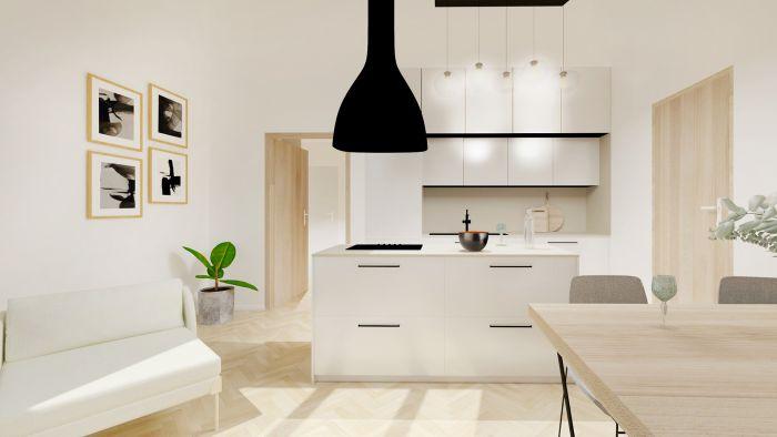 Půdní byt 2+kk, plocha 42 m², ulice Čajkovského, Praha 3 - Žižkov | 3