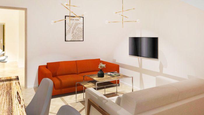 Půdní byt 2+kk, plocha 54 m², ulice Čajkovského, Praha 3 - Žižkov | 4