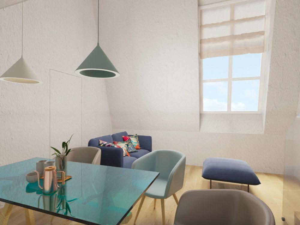 Půdní byt 3+kk, plocha 53 m², ulice Seifertova, Praha 3 - Žižkov | 3