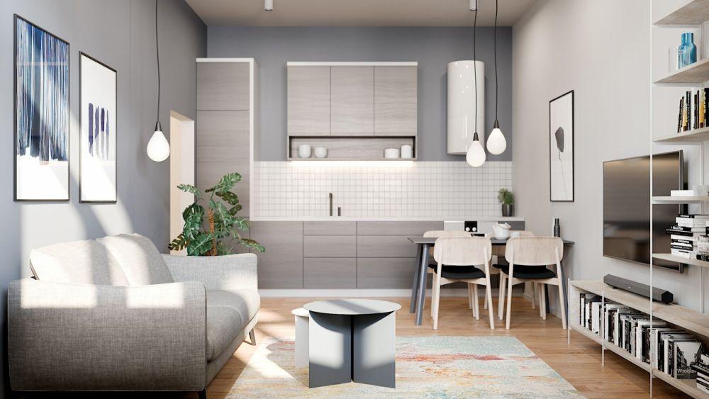 Půdní byt 2+kk, plocha 63 m², ulice Bořivojova, Praha 3 - Žižkov | 2