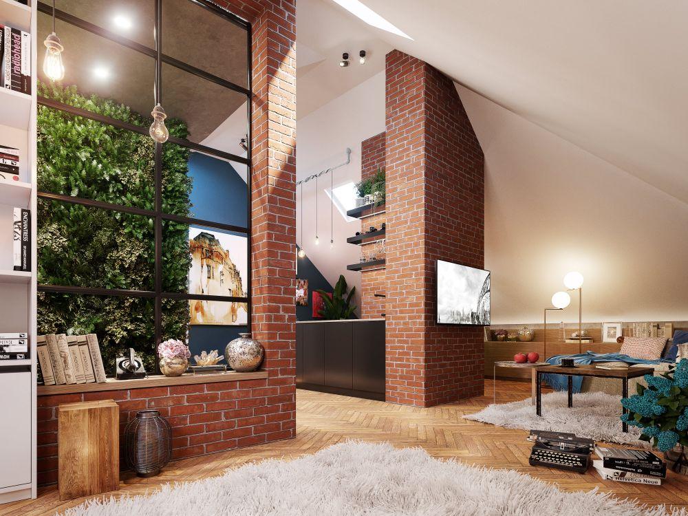 Vizualizace půdních bytů - developerský projekt Maison Lofts, ulice Tyršova, Praha 2 - Nové Město | 4
