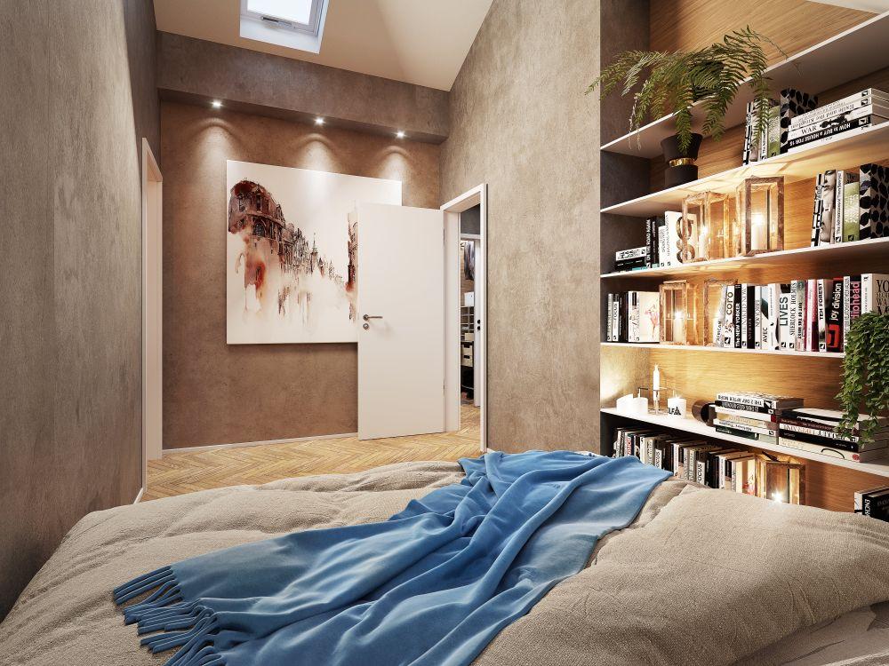 Vizualizace půdních bytů - developerský projekt Maison Lofts, ulice Tyršova, Praha 2 - Nové Město | 6