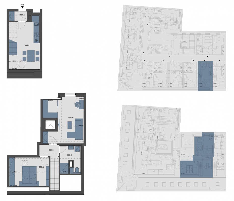 Půdní byt 3+kk, plocha 65 m², ulice Tyršova, Praha 2 - Nové Město, cena 8 736 250 Kč | 1