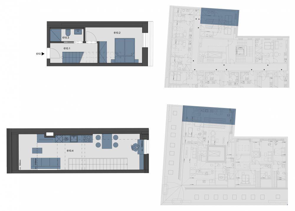 Půdní byt 2+kk, plocha 45 m², ulice Tyršova, Praha 2 - Nové Město, cena 6 290 934 Kč | 1