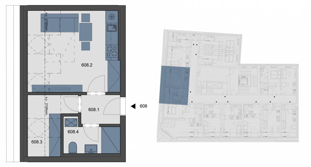 Půdní byt 1+kk, plocha 29 m², ulice Tyršova, Praha 2 - Nové Město, cena 4 238 082 Kč   1