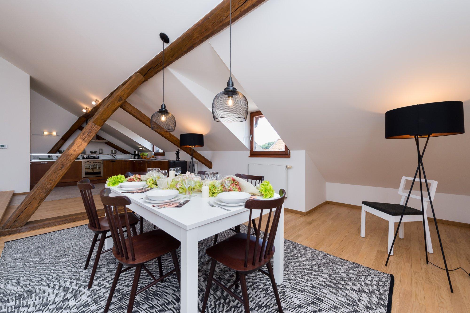 Půdní byt 4+kk, plocha 196 m², ulice Pohořelec, Praha 1 - Hradčany | 3