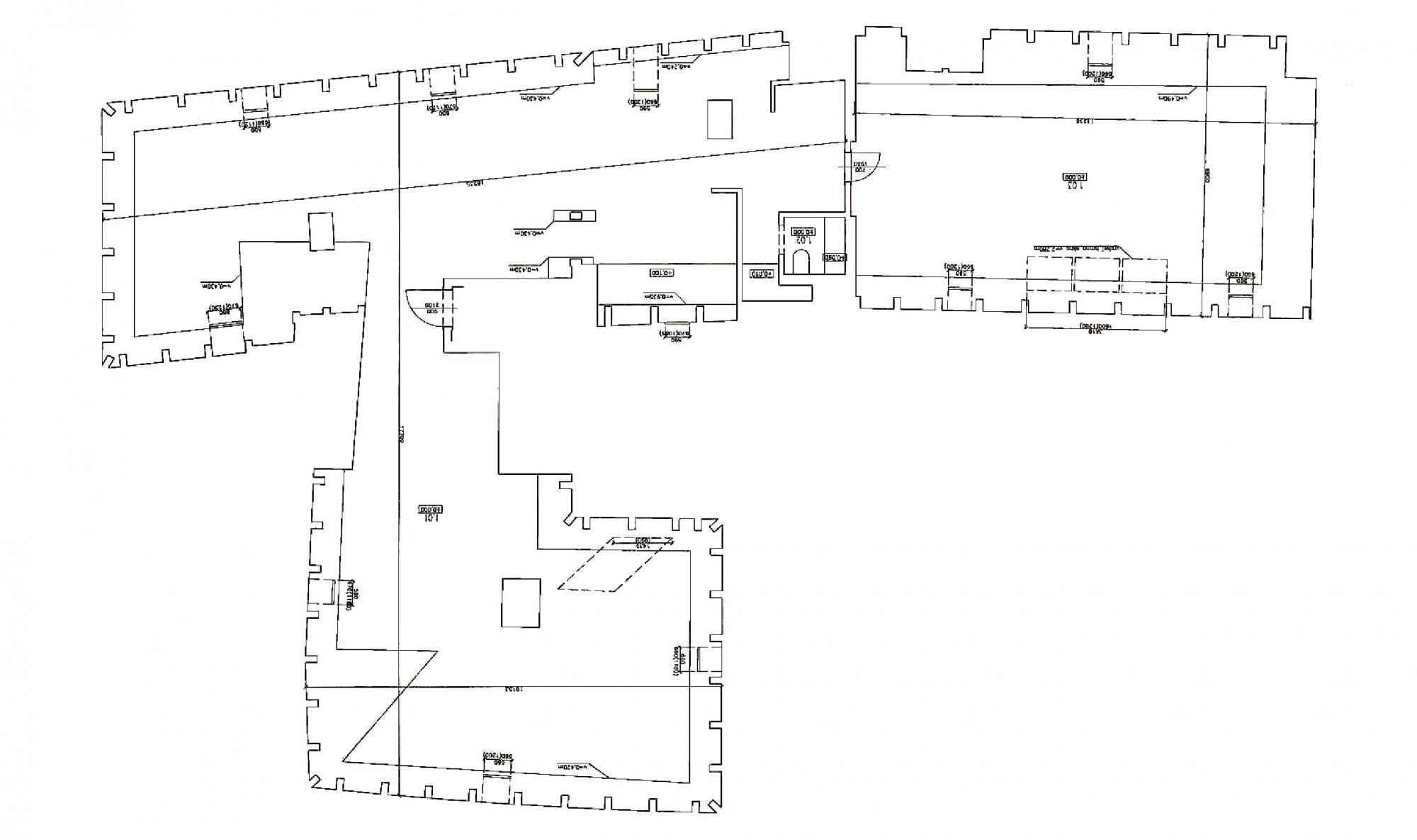 Půdorys - Půdní byt 4+kk, plocha 199 m², ulice V Jirchářích, Praha 1 - Nové Město