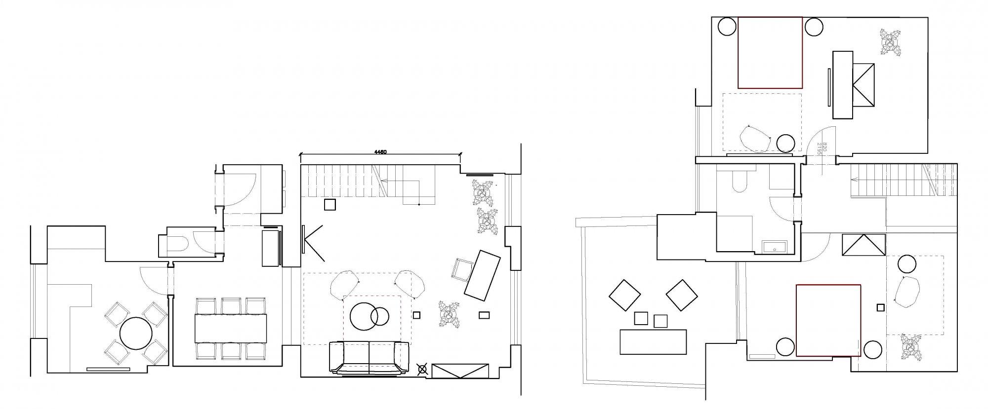 Půdorys - Půdní byt 3+1, plocha 122 m², ulice Vojtěšská, Praha 1 - Nové Město