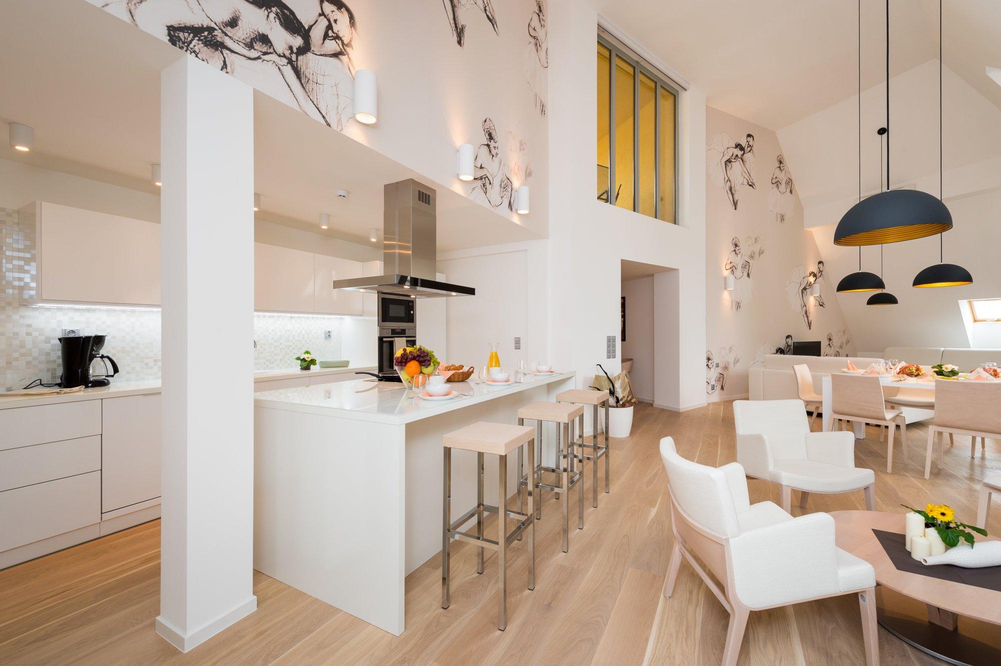 Půdní byt 5+kk, plocha 208 m², ulice Vodičkova, Praha 1 - Nové Město | 1