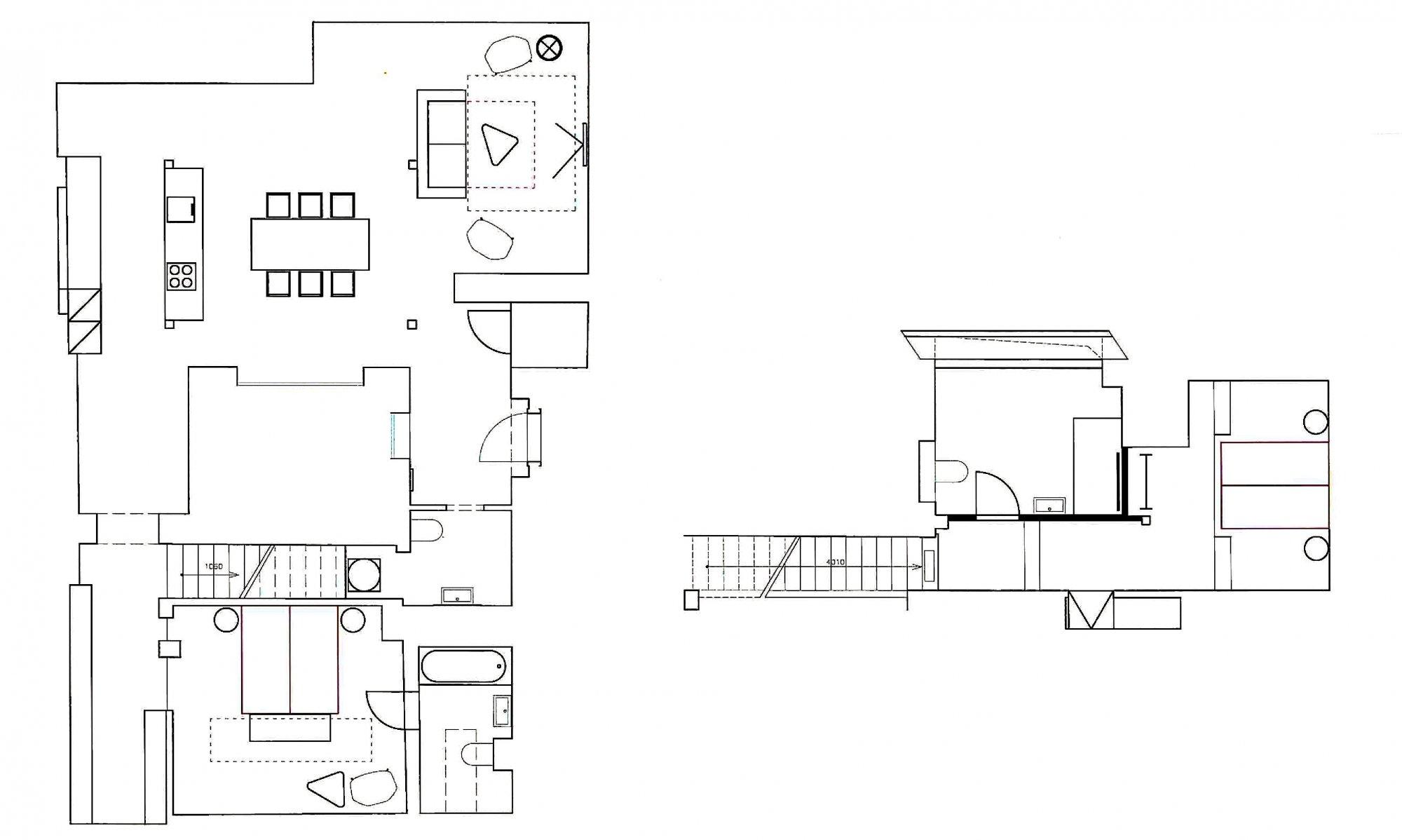 Půdorys - Půdní byt 3+kk, plocha 146 m², ulice Hellichova, Praha 1 - Malá Strana