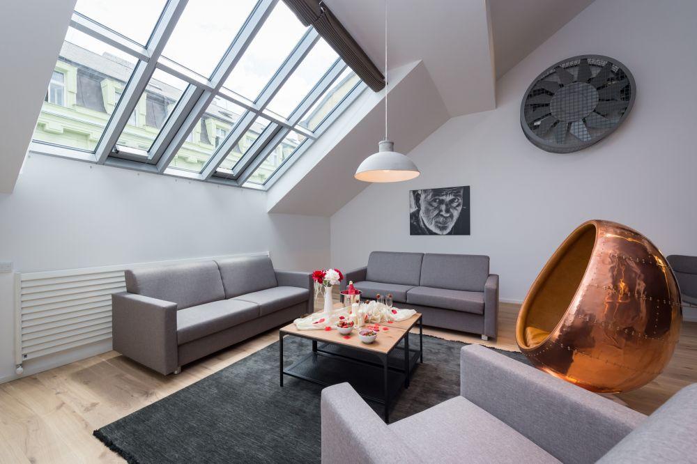Půdní byt 4+kk, plocha 187 m², ulice Dlážděná, Praha 1 - Nové Město | 4