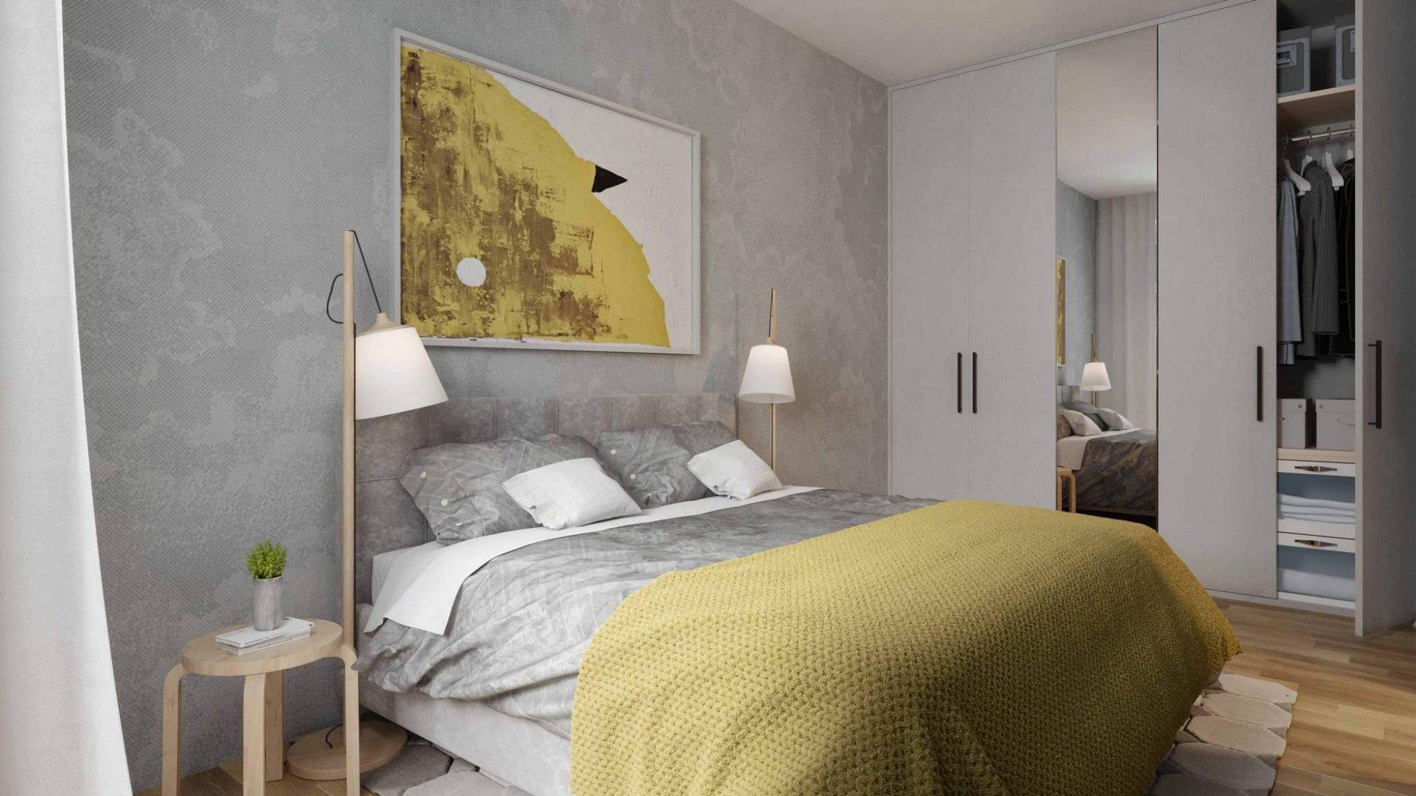 Vizulizace jednoho z bytů - Půdní byt 1+kk, plocha 30 m², ulice Lindnerova, Praha 8 - Libeň | 2