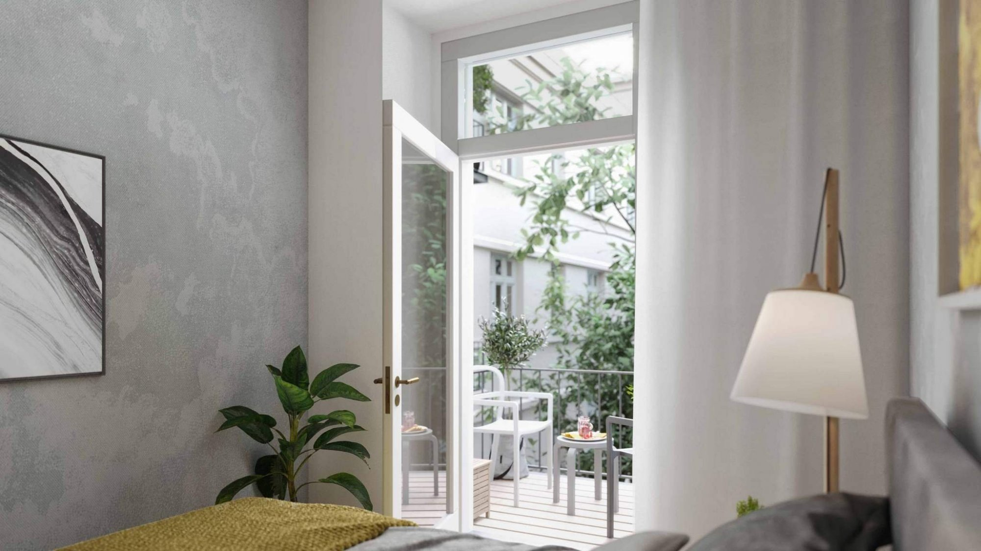 Vizulizace jednoho z bytů - Půdní byt 2+kk, plocha 40 m², ulice Lindnerova, Praha 8 - Libeň | 3