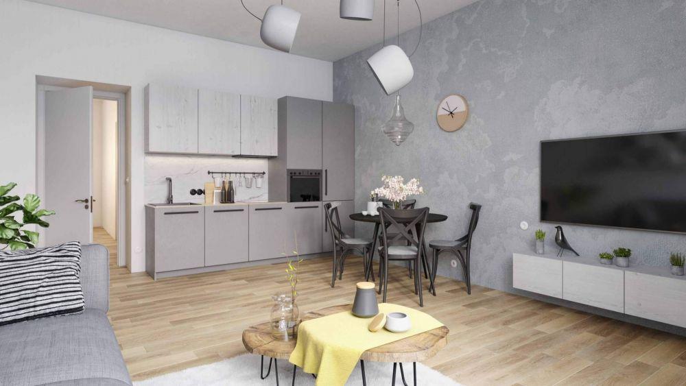 Vizulizace jednoho z bytů Pod Korábem - Půdní byt 3+kk, plocha 112 m², ulice Lindnerova, Praha 8 - Libeň | 1