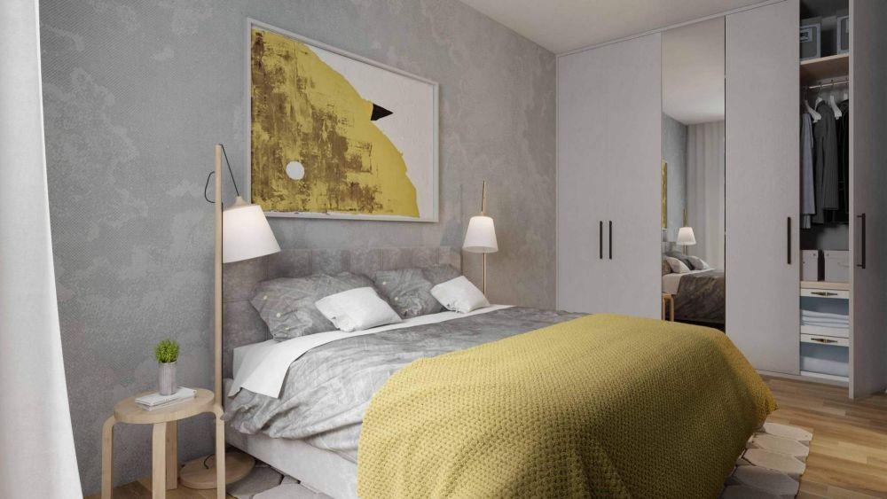 Vizulizace jednoho z bytů - Půdní byt 3+kk, plocha 112 m², ulice Lindnerova, Praha 8 - Libeň | 2