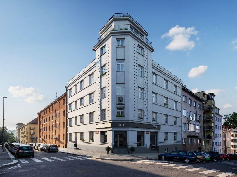 Pohled na bytový dům Pod Korábem - developerský projekt Nad Korábem, ulice Lindnerova, Praha 8 - Libeň | 4