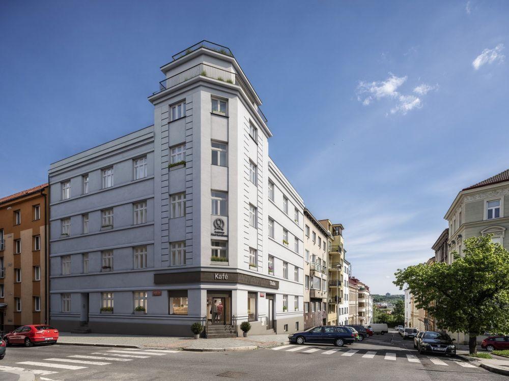 Pohled na bytový dům - developerský projekt Nad Korábem, ulice Lindnerova, Praha 8 - Libeň | 5