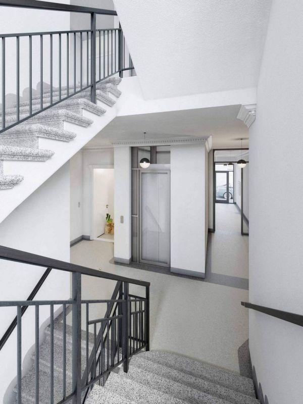 Společné prostory domu Pod Korábem - developerský projekt Nad Korábem, ulice Lindnerova, Praha 8 - Libeň | 7
